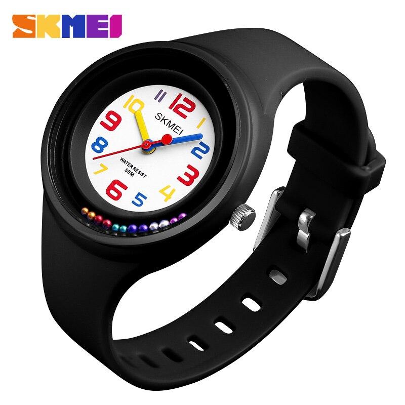 Relojes para niños, 50 M, relojes de cuarzo impermeables, reloj Jelly para niños, reloj para niñas y estudiantes, mejores relojes de marca de lujo SKMEI