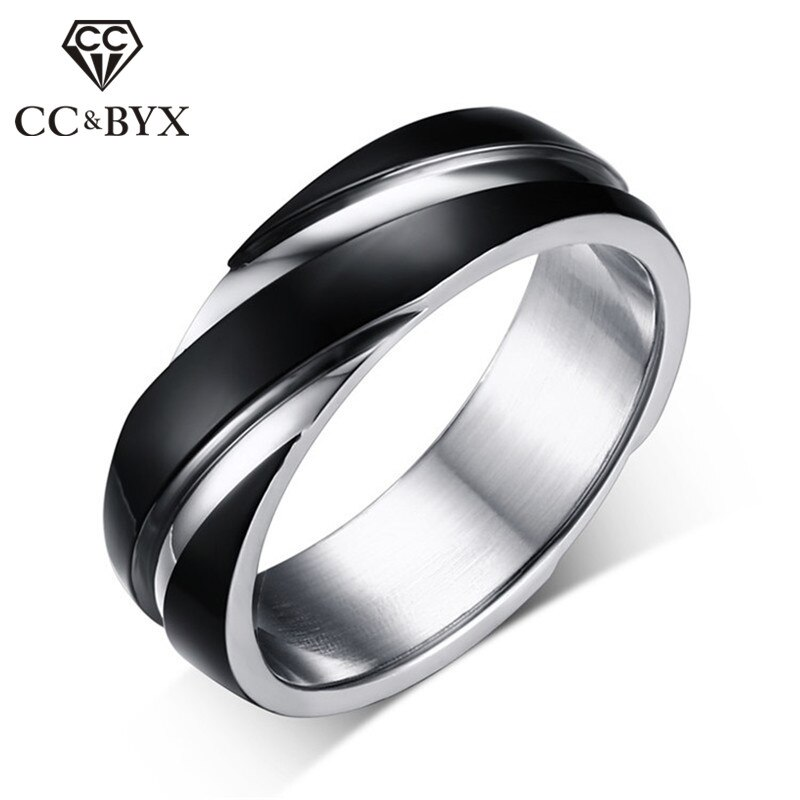 Anillos clásicos de acero de titanio CC para hombres y mujeres, estilo Simple, anillo de sarga, anillo de cola de caballero, bisutería, fiesta, Anel, triangulación de envío CC971a