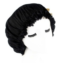 New Fashion Women Donna Sleep Cap Satin Bonnet Cap Soft Comfortable Turban Beanie Hat