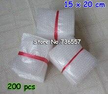 200 pièces nouveau 15cm * 20cm enveloppes à bulles sac cadeau livraison gratuite 150x200mm pochettes emballage PE Mailer emballage paquet
