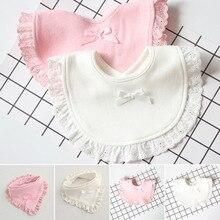 Fashion Cotton Newborn Lace Bow Baby Bibs Slabbetjes Cute Girls&Boys Burp Cloth Infant Bibs Baberos Infant Saliva Towels