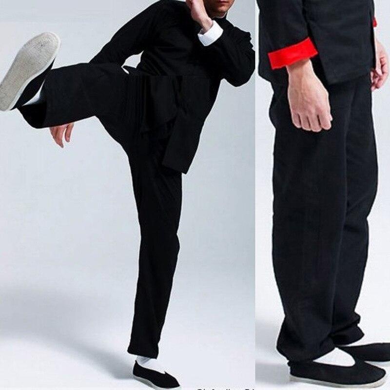 Тай-Чи Одежды брюки Тайцзицюань Одежда Осенью и Зимой Мужчин и Женщин Толстые хлопчатобумажные брюки Ушу одежда Кунг-Фу