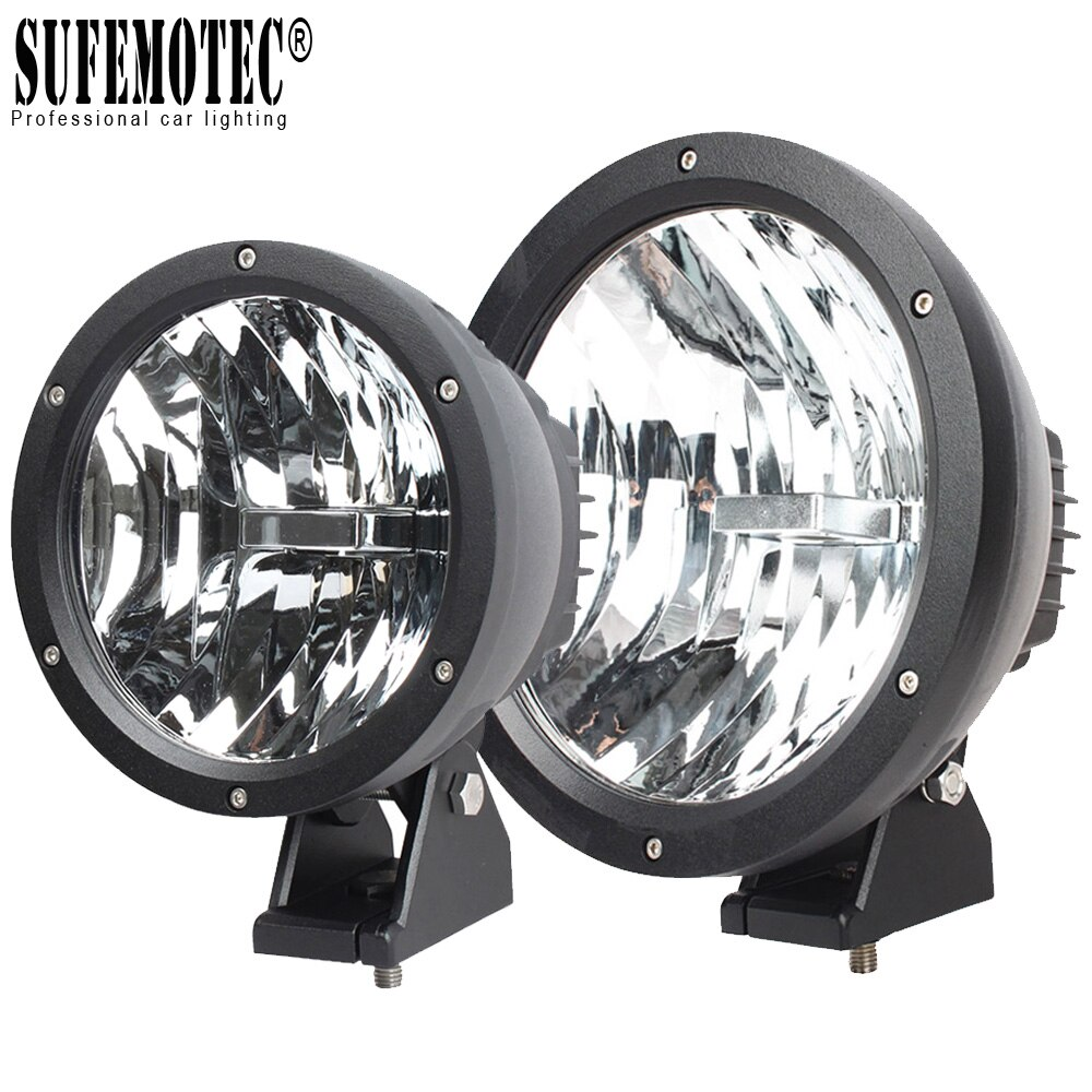 Luz Led de 9 pulgadas para coche, lámpara antiniebla de 12V 24V, 4x4, camión todoterreno, 4WD, SUV, ATV, barco, UTV de 7 pulgadas, 50W, luces Led de trabajo para coche