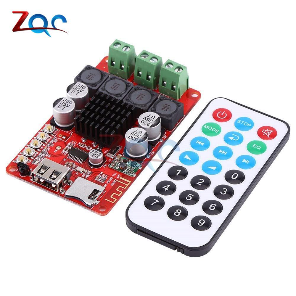 TPA3116 50W + 50W Bluetooth Ricevitore Audio Digitale Amplificatore di Bordo Lettore carta di TF U-disk Radio FM con il Regolatore A Distanza