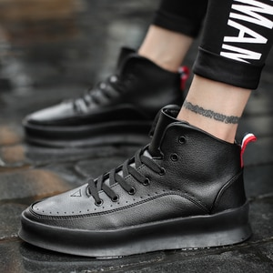 Men Shoes 2019 Spring Vintage Chunky Sneakers Men Hip Hop Street Casual High Top Shoes Men Tenis Masculino Adulto Sneakers