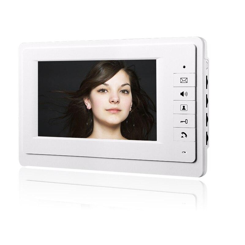Videoportero con cable para puerta, unidad interior de 7 pulgadas, pantalla LCD sin unidad de cámara al aire libre