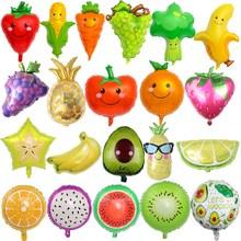 NEW Fruits Vegetables Cartoon Watermelon/pineapple/Avocado Foil Balloon Birthday Party Decoration Ball Ice Cream Lovely Kids Toy