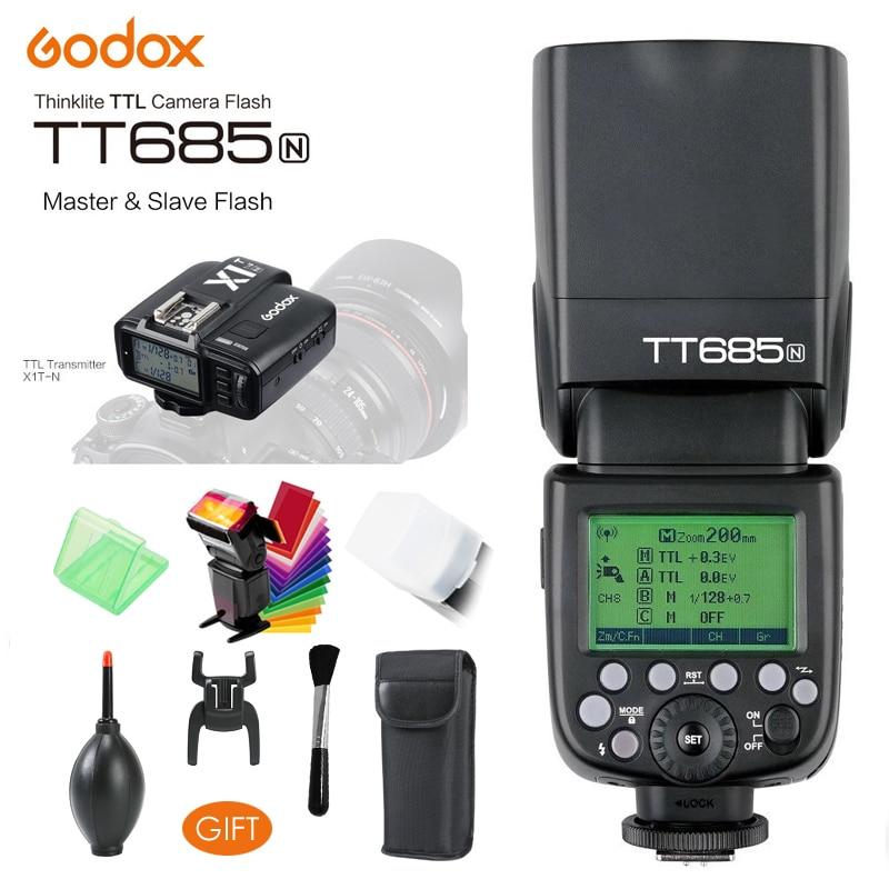 Godox TT685N 2.4G HSS 1/8000s i-ttl GN60 Flash sans fil, X1T-N TTL déclencheur pour Nikon D800 D700 D7100 D7000 D5200 D5100 D70S D810
