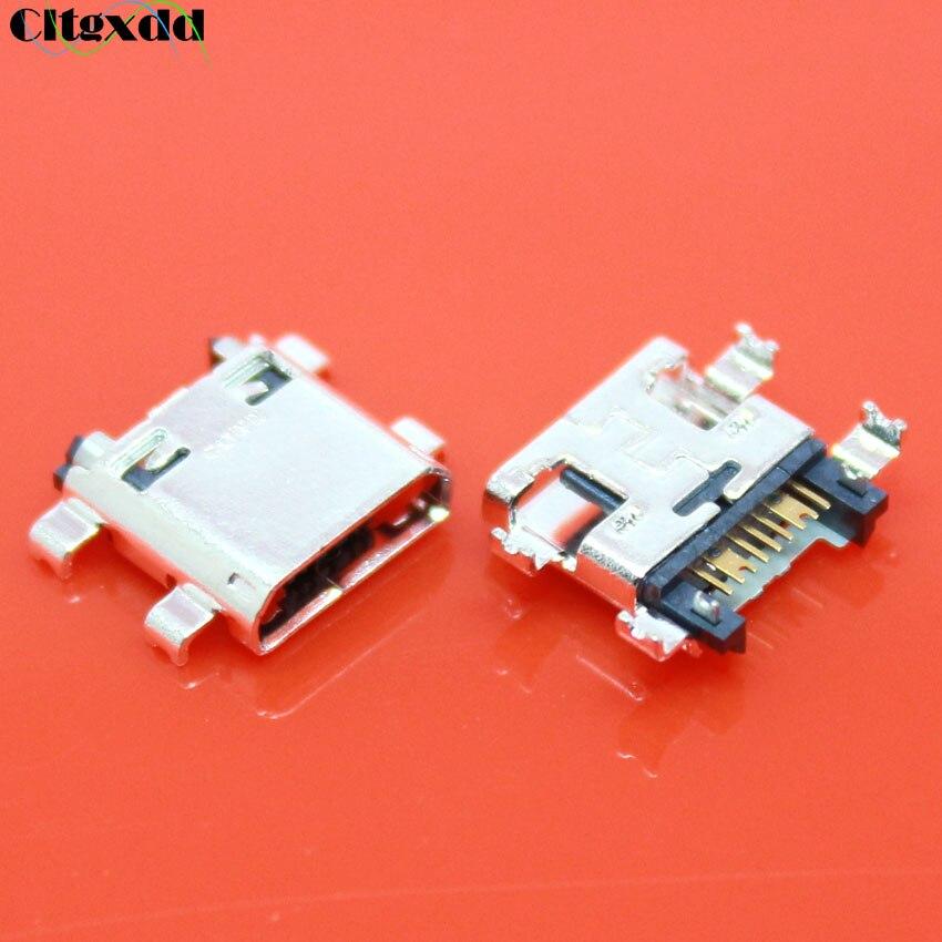 Cltgxdd 10 ~ 100 Uds Micro USB jack 7pin hembra conector de carga puerto para Samsung I8260 I8162 S6812 S7582 G350 G7102 G7105 G7106