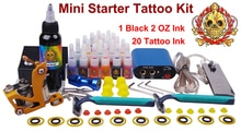 tattoo starter kit machines cosmetic makeup permanent gun professional body piercing kits