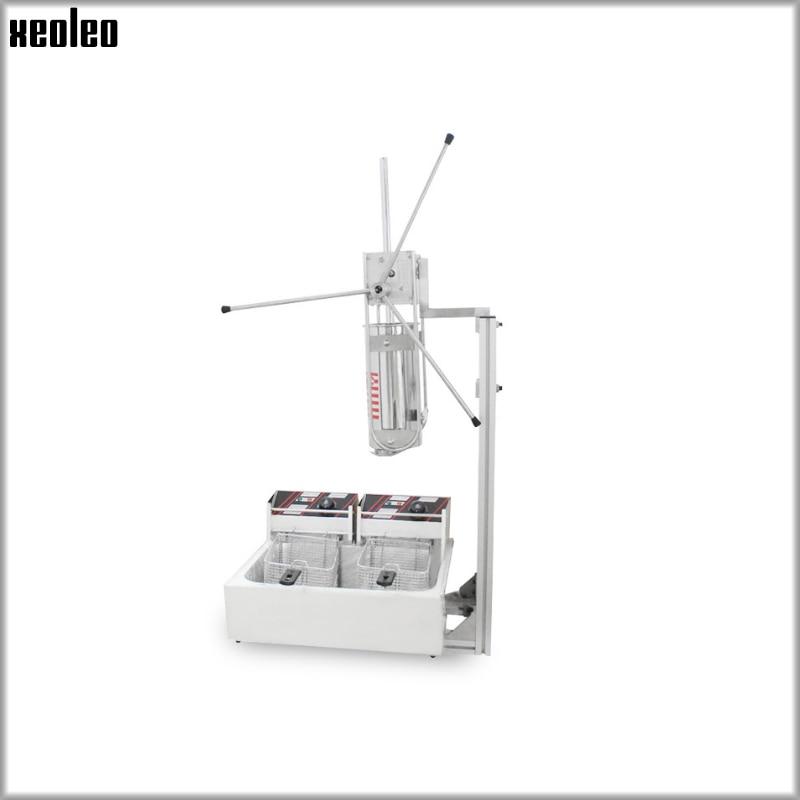 Máquina de torsión eléctrica XEO Leo 5L para freír fruta latina con freidora eléctrica de doble sievet 12L de acero inoxidable