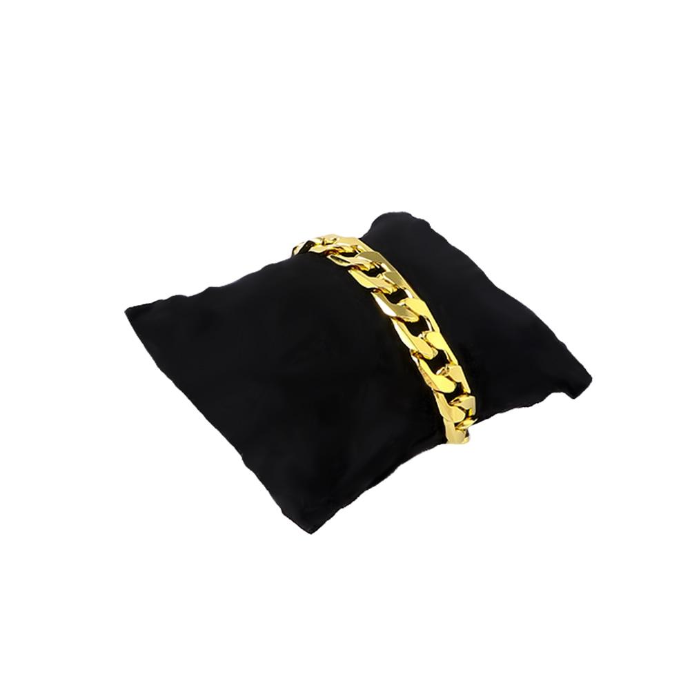5 uds., pequeño cojín de presentación de joyería de 8,5X8 cm, pulsera negra, tobillera, brazalete, cadena, expositor, organizador de almohadilla de joyería para reloj