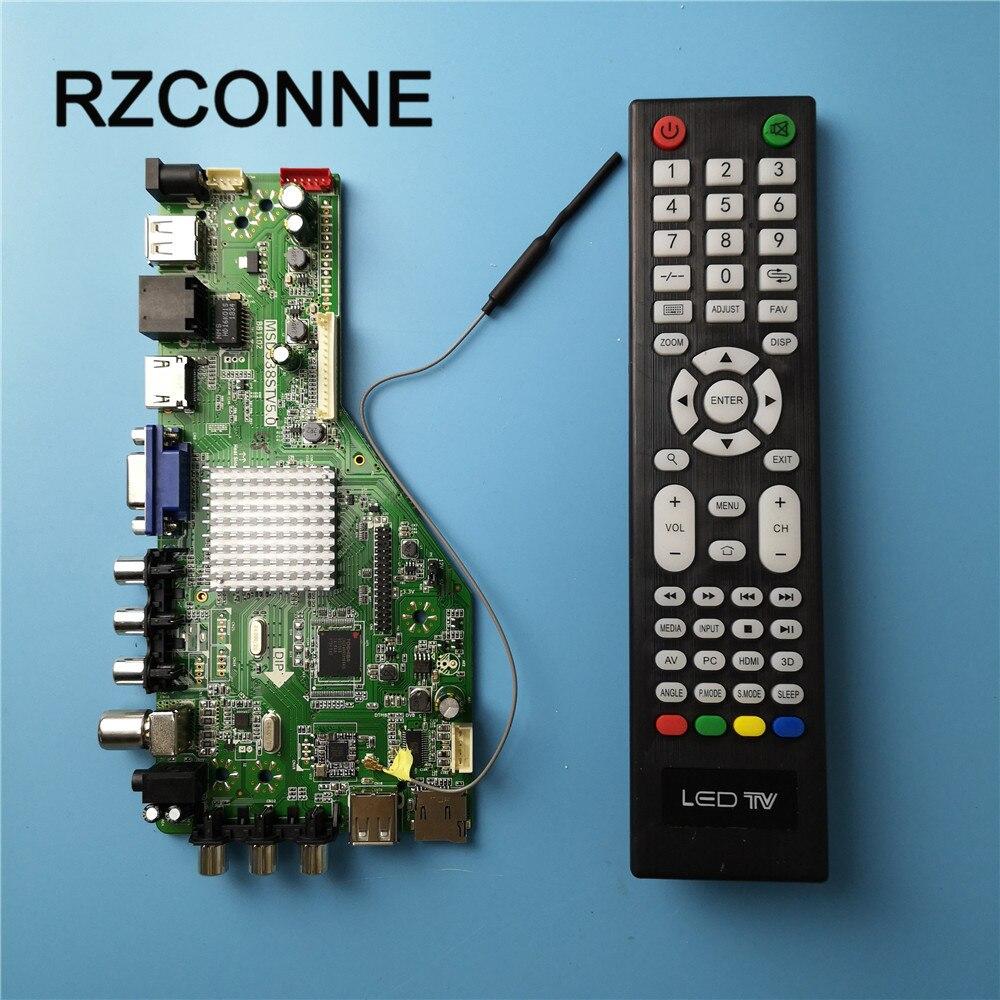 MSD338STV5.0 tarjeta controladora de TV inalámbrica inteligente, placa base Universal LCD para Android WI-FI ATV RAM 1G y 4G