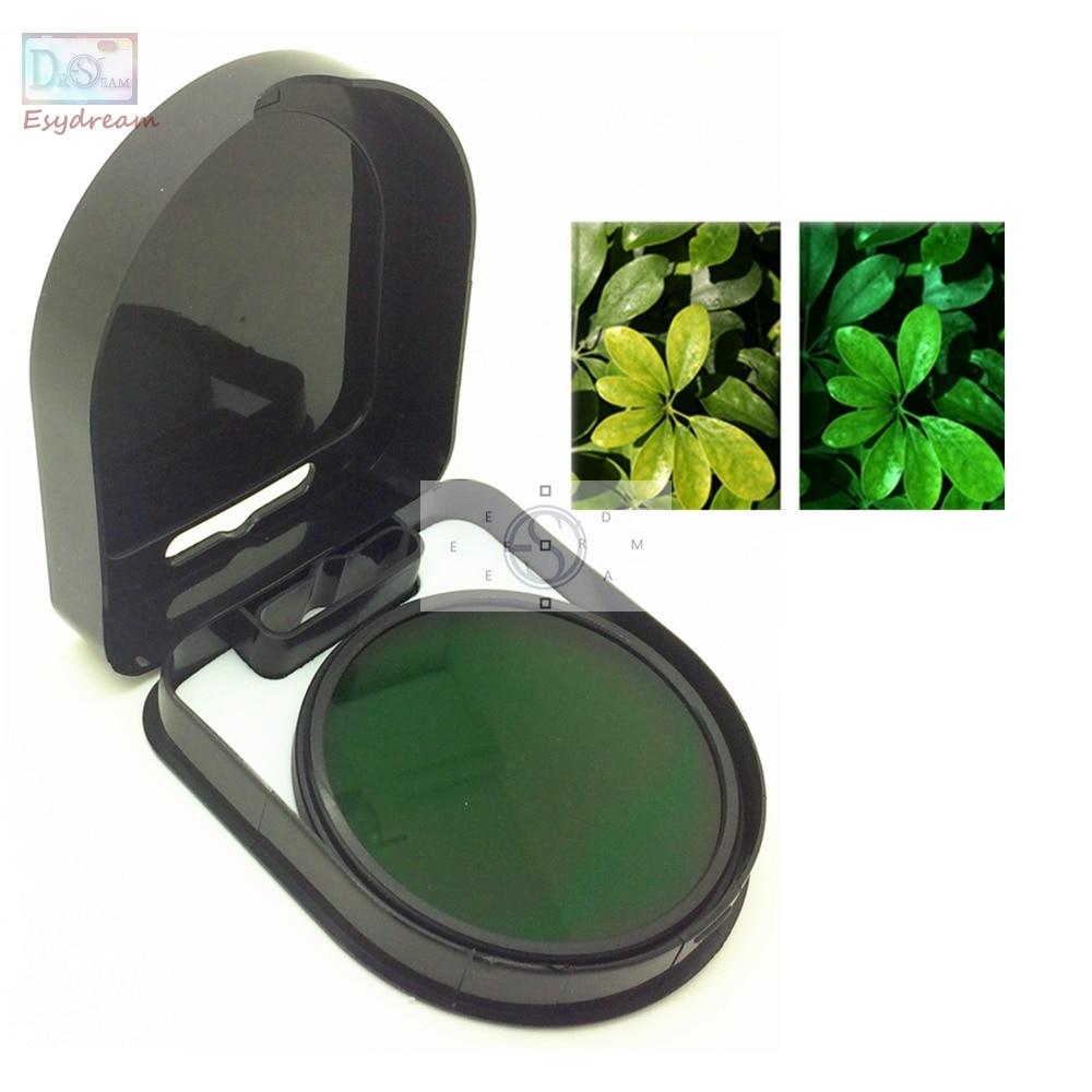 Filtro de lente a todo Color verde para cámaras Canon y Nikon, lentes de 37, 40,5, 46, 49, 52, 55, 58, 62, 67, 72, 77mm, 49mm, 52mm, 55mm, 58mm, 67mm y 77mm