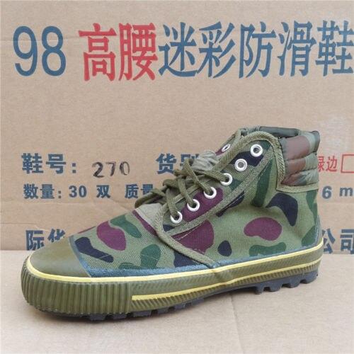 Excedente chino ejército PLA Tipo 65 zapatos de liberación CAMO botas antideslizantes en tamaños