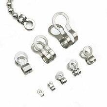 Acier inoxydable Double boucles perles boucles crique fermoirs cordon embouts chaîne pliage bricolage boule chaîne connecteurs résultats de bijoux