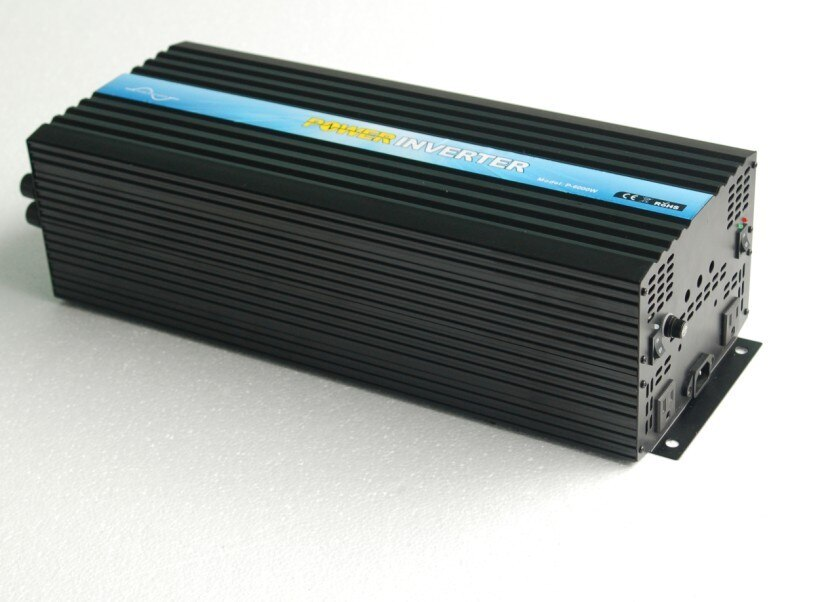 CE&RoHS&SGS Approved, DC12v/24v/48v AC100v-120v/220v-240v 6000w pure sine wave power invertor/solar inverter,free shipping!