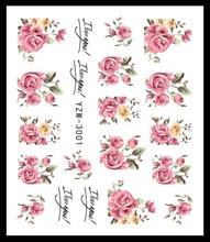 LCJ dégradé lumière violet Rose fleur curseur autocollants pour ongles pour filigrane manucure vernis à ongles autocollant