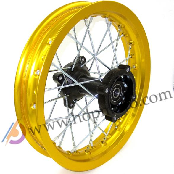 Llantas de bicicleta de Cross Pit color dorado 12mm o 15mm eje 1,85x12 pulgadas llanta trasera PIT PRO CRF KLX YZF BSE