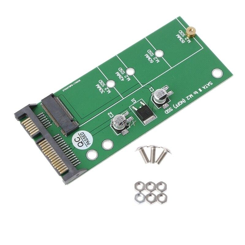 "NGFF (M2) a 2,5 SSD ""adaptador SATA M.2 NGFF SSD a tarjeta convertidora SATA3 para disco duro 30/42/60/80mm M.2 SSD venta al por mayor y Dropship"
