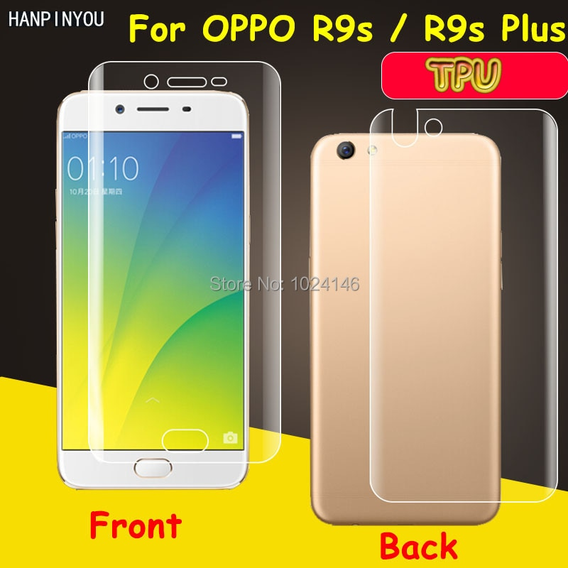 Front / Back Full Coverage Clear Soft TPU Film Screen Protector For OPPO R9s / R9s Plus Cover Curved