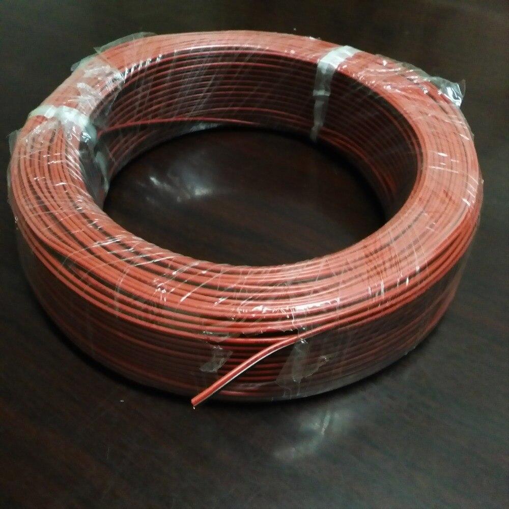 10 metros/lote, 22awg PVC fio isolado, 2pin cabo de cobre estanhado, Fio elétrico para LED Strip extensão fio CB-22AWG-RB