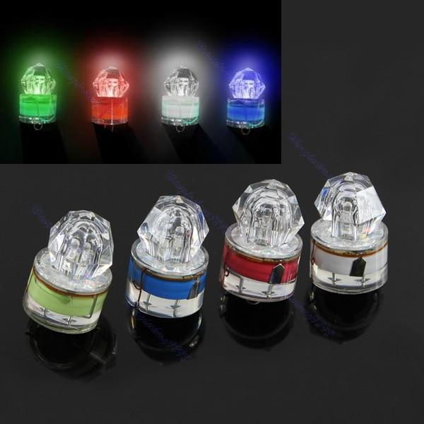Colorido LED de diamante de gota profunda de pesca submarina luz intermitente cebo señuelo de calamar Strobe pesca Drop Ship