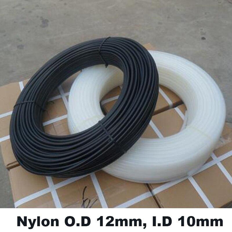 Tubo de nailon resistente a la corrosión, compresor de aire, tubería neumática de poliamida, de alta presión, 12mm, I.D, 10mm, PA12 * 10 100m