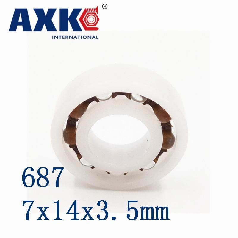 2019 ograniczona nowe łożysko oporowe Rolamentos Axk 687 Pom (10 sztuk) piłka plastikowa łożyska 7x14x3.5mm szklane kule 7*14*3.5mm