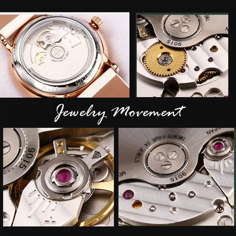 BINLUN Women's Watch Top Brand Luxury Wristwatches Lady's Automatic Mechanical relogio Season Series Diamond Case Chronograph enlarge