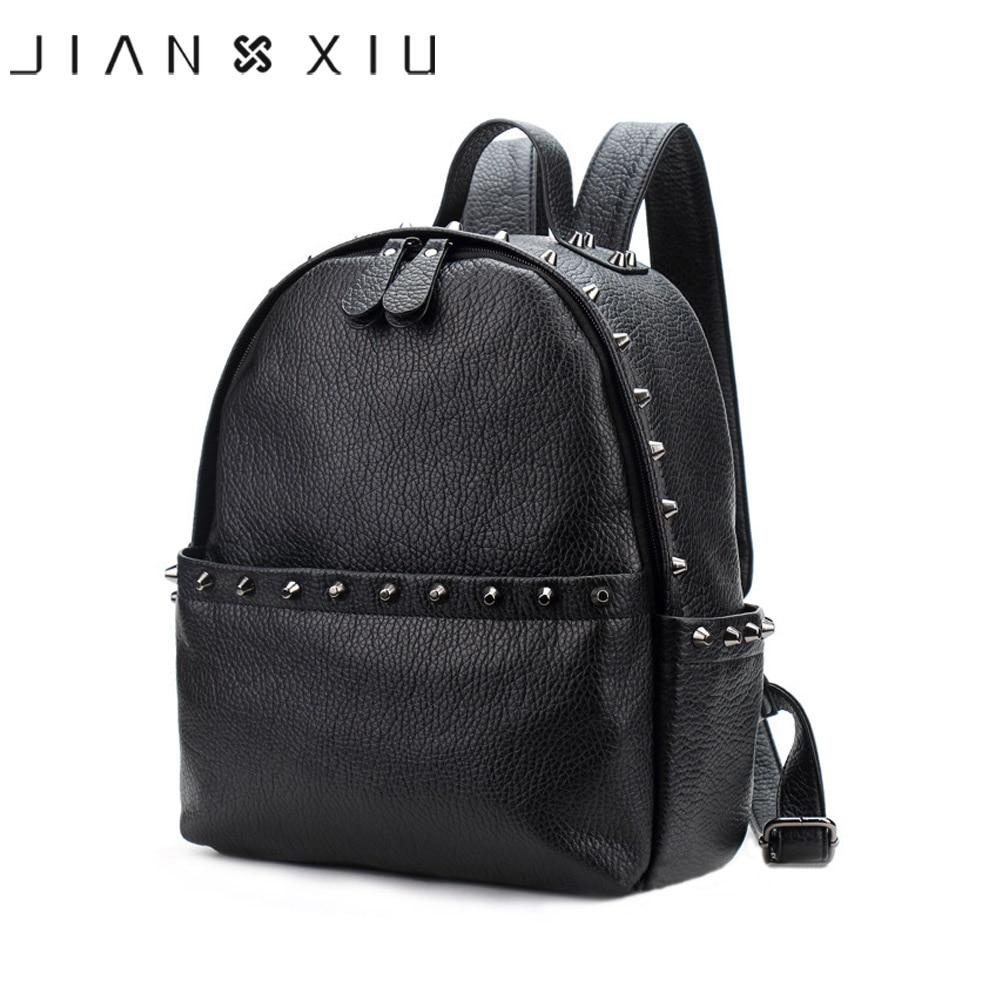 JIANXIU Brand Women Backpack Pu Leather School Bags Mochilas Mochila Feminina Bolsas Mujer Backpacks Rugzak Back Pack Bag 2019