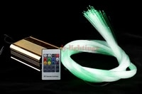 diy optic fiber light kit led light mix size optical fibres rgb color change wireless control star ceiling light 25w