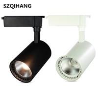 High Quality 20W 30W Led Track light aluminum Ceiling Rail Track lighting COB Spot Rail Spotlights AC85-265V