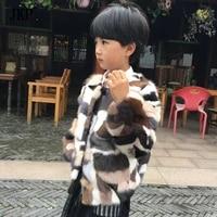 2017 winter kids natural mink fur coat colourful childrens mink fur jacket with baby boys girls clothes fur coat