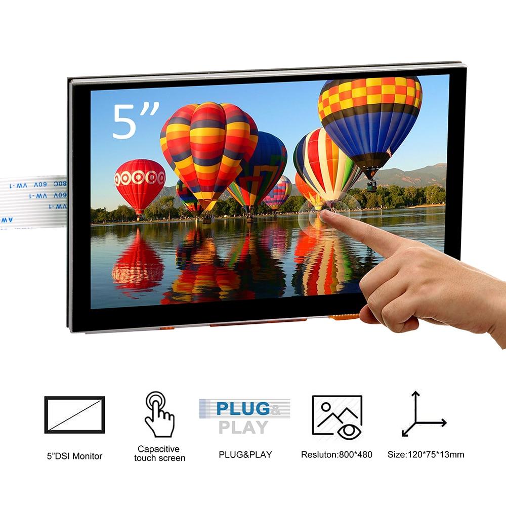 5 zoll 800x480 Raspberry Pi TFT Touchscreen DSI Connector LCD Display Unterstützung Raspberry, Ubuntu MATE, kali, RetroPie system