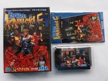 Md 게임 bare knuckle (일본 버전!! 상자 + 수동 + 카트리지!!)