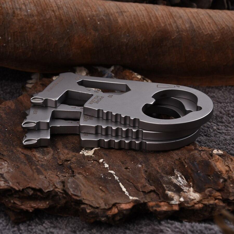 Gadgets de acero inoxidable EDC portátil al aire libre, herramientas de autodefensa multiusos, destornilladores, llaves, abrelatas envío gratis