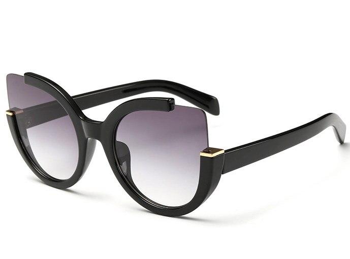 Sexy de ojo de gato gafas de sol mujer marca de diseñador, gafas de sol de mujer Round Lens tonos para las mujeres gafas UV400