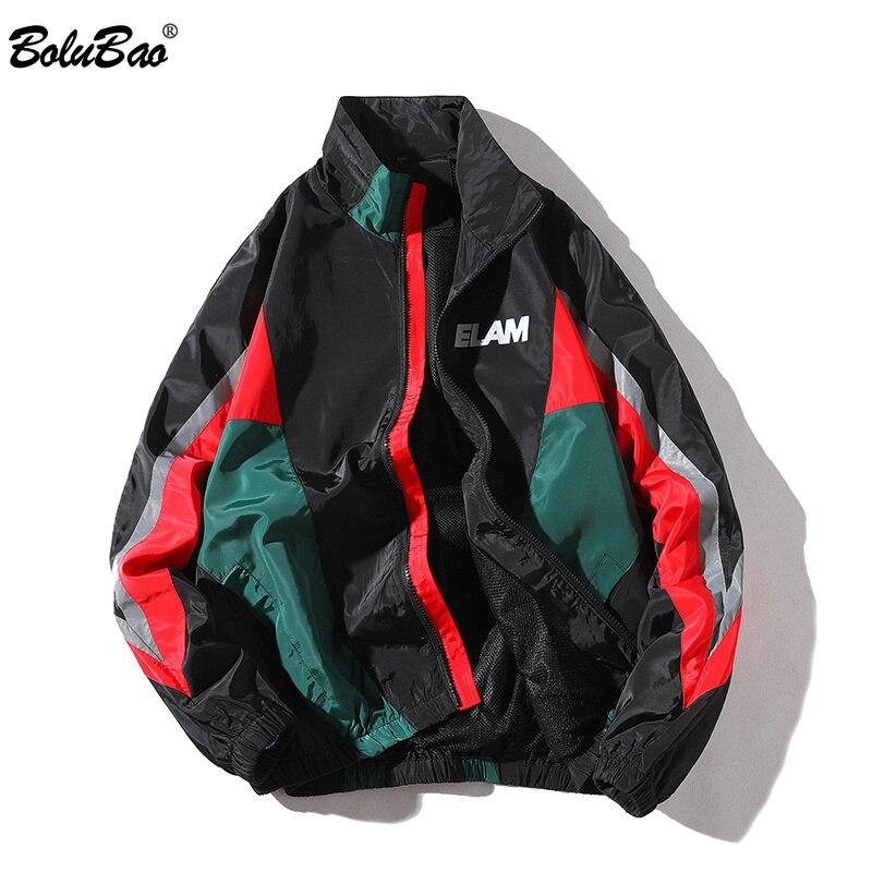 Bolubao Fashion Brand Jassen Heren Lente Herfst Hip Hop Trainingspak Jas Vest Streetwear Man Splice Mode Jas Mannelijke