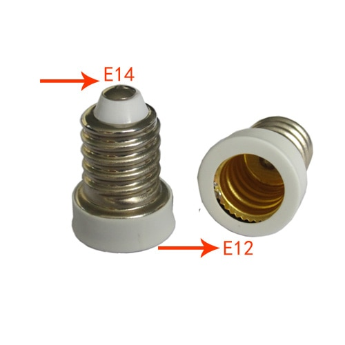 E14 to E12 Base Adapter Converter Lamp Holder Lamp Adapter