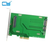 PCI-E adaptateur dhôte 3.0x4 Lane to u 2   Kit U2, adaptateur dhôte, pour carte mère Intel & 750 NVMe pcle SSD