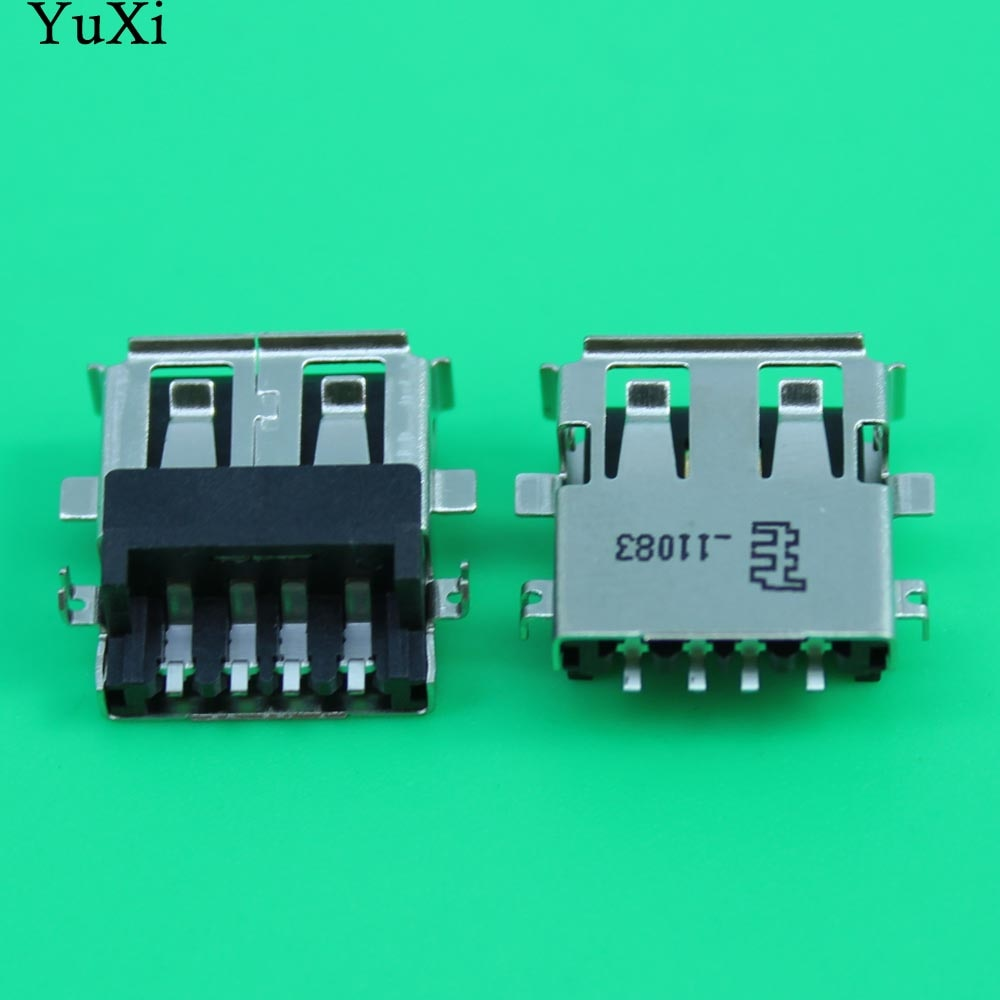YuXi USB female jack connector 2.0 USB Port for Laptop Lenovo Asus etc Copper Down