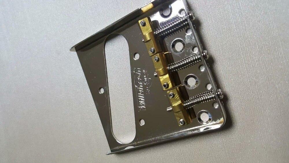 Conjunto chrome wilkinson cordas baixo elétrico ponte com selas de bronze para precisão feita em coreia
