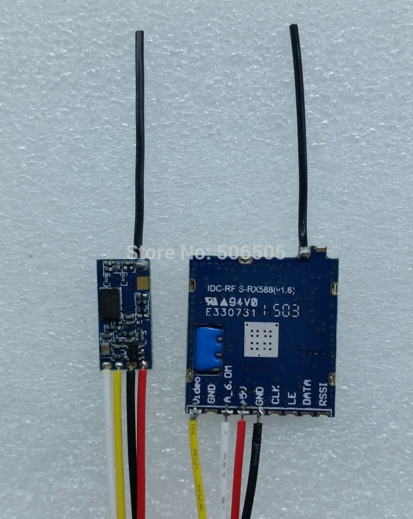 mini 4 channels 5.8Ghz Wireles audio and video transmitter with Receiver Module 5.8Ghz video sender module enlarge