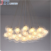 Z moderne créatif boule de verre suspension lampe artistique oie oeuf forme Design G4 LED lumières Section télécommande salon lampe
