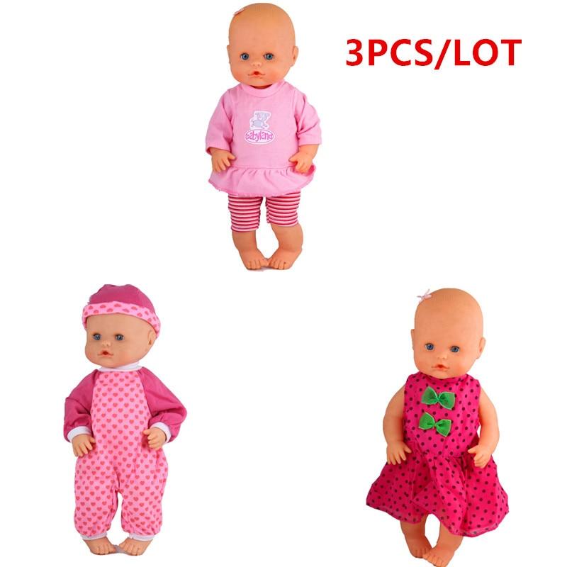 13 zoll Puppe Kleidung Fit 35cm Nenuco Puppe Ropa y su Hermanita 3 teile/los 1 Rosa Streifen Outfits 1 rose Herz Hut Overall 1 Kleid