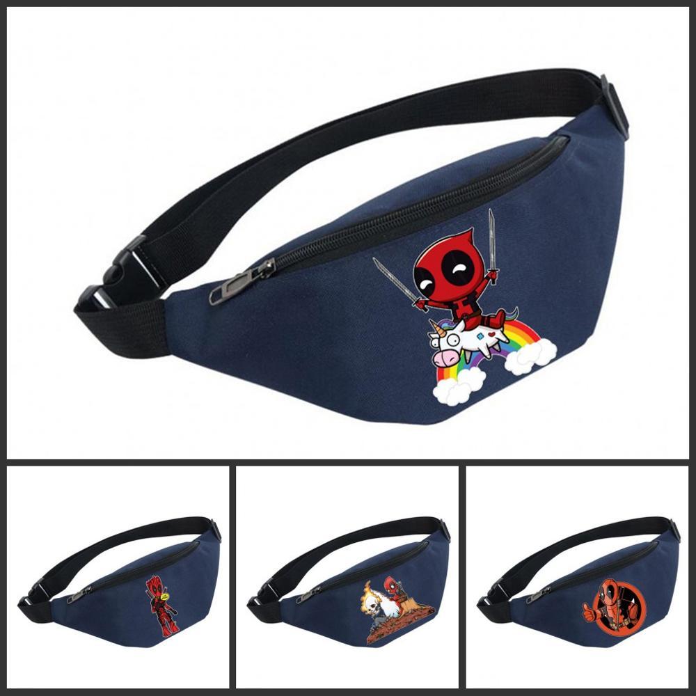 Bolsas de vientre Unisex riñonera mujer cinturón impermeable pecho bolso cintura señoras Paquete de cintura para Deadpool