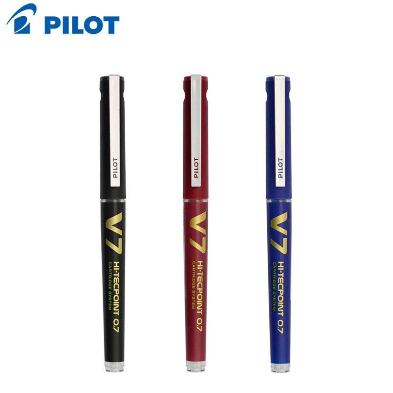 Pilot V7 высокотехнологичный картридж с системой роллер шариковая ручка средняя точка 0,7 мм наконечник иглы черный/красный/синий многоразовый BXC-V7 для записи