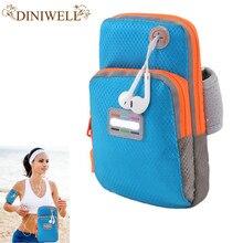 Diniwell marca feminina bolsa de viagem braço móvel homem wristbag iphone 6 plus senhoras adorável organizador