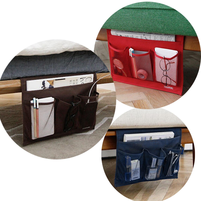 Novedad casa cabecera bolsillo cama bolsa colgante organizador teléfono soporte libro mesa para revistas bolsa de almacenamiento
